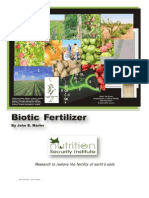 Biotic Fertilizers-The Sustainable Topsoil Revolution