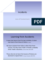 CF Lecture 8 Incidents - Loss of Containment