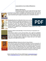 Books Recommended on Cross Cultural Ministries1