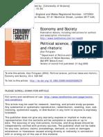 Finlayson -- Political Science, Political Ideas and Rhetoric