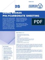 Using Wickes Polycarbonate Sheeting