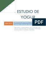 Estudio de Yogur - Informe FINAL Enero 2010