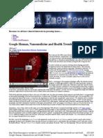 Google Human, Nanomedicine and Health Trends