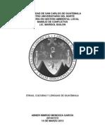 Diversidad Etnica Guatemala, Cultural y Linguistica