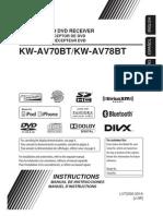 Manual Estereo JVC KW-AV70BT/KW-AV78BT