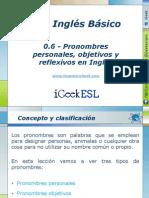 0.6 - Pronombres personales, objetivos y reflexivos en Inglés