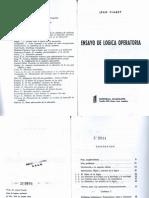 Jean Piaget, Ensayo de lógica operatoria