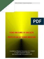 PNE - Proposta Da Sociedade Brasileira