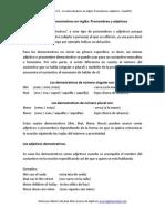 0.8  - Los demostrativos en inglés Pronombres y adjetivos