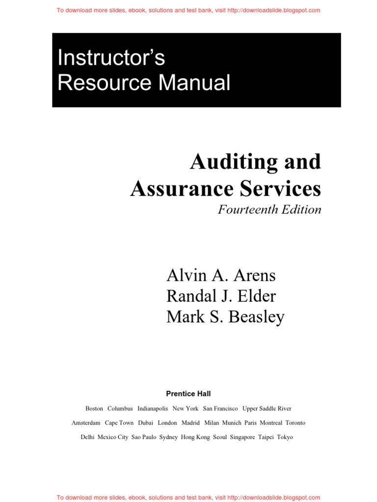 auditing and assurance services homework solutions Assurance services auditing and generators and mylab online tutorial and homework systems the audit and assurance division of the aicpa.