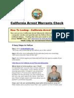California Arrest Warrants - Arrest Warrants Check