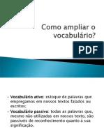 [FAZER]Como ampliar o vocabulário.ppt
