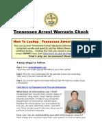 Tennessee Arrest Warrants - Arrest Warrants Lookup