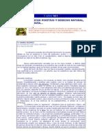 Derecho Positivo y Derecho Natural