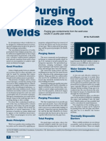 Gas Purging Optimizes Root Welds