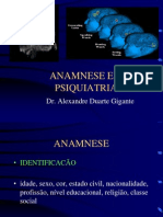 ANAMNESE e Exame Psiquico