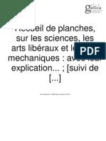 Recueil de Planches, Sur Les Sciences, Les Arts Liberaux, Et Les Arts Mechaniques, Ave Leur Explication