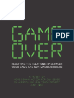 Game Over Resetting the Relationship Between Video Game and Gun Manufacturers