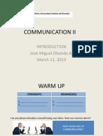 Communication II Workshop i