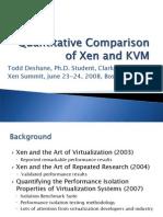 Xen Versus KVM 20080623