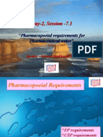 D2-7.1 - Pharmacopoeial Requirements Pharmaceutical Water