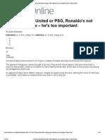 Cristiano Ronaldo's Staying at Real Madrid, Says Zinedine Zidane _ Mail Online