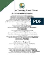 New Staff List 2013-14