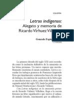 Alegato de Letras Indigenas