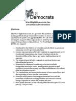 Ward Eight Democrats Platform, 2011