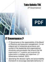 Tata Kelola TIK - IT Governance