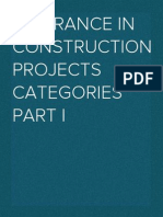 Insurance in Construction Projects  CATEGORIES PART I