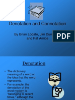 POETRY Denotation and Connotation