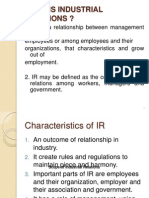 Industrial Relations Class Ppt