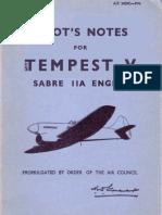 Pilots Notes Tempest v (Sabre IIA)