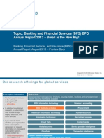 Banking and Financial Services (BFS) BPO Annual Report 2013 - Small is the New Big!