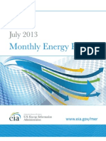 Monthly Energy Review, DOE, July, 2013
