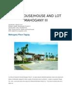 Mahogany III Complete Presentation