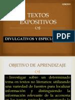 Textos Expositivos Divulgativos y Especializados