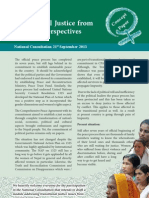 Transitional Justice from Women's Perspectives