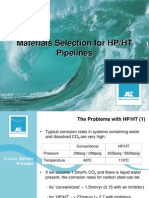 Presentation-Material Selection HPHT