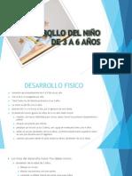 DESARROLLO DEL NIÑO DE 3 A 6 AÑOS