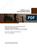 How Has Asia Fared in the Global Crisis? A Tale of Three Countries