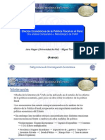 Efectos Economicos de La Politica Fiscal en El Peru