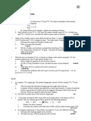 Sem1 Unit1 Matter | Acid | Mole (Unit)
