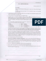 GATE Life Sciences Question Paper 2008