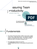 Measuring Team Productivity