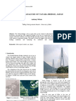 A Criticial Analysis of Tatara Bridge, Japan