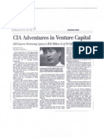 CIA. Adventures in Venture Capital Hill Experts Reviewing Agency's $28 Million In-Q-Tel Offshoot for Value