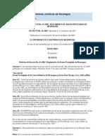 REFORMA AL DECRETO NO_ 01-2007, REGLAMENTO DE ÁREAS PROTEGIDAS DE NICARAGUA