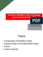 Micro Hydro plant components